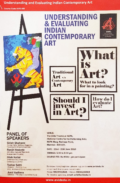 Indian contemporary art - understanding & evaluating